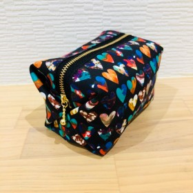 【送料無料】リバティ柄キャラメルボックス型ポーチ3
