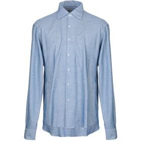 《9/20まで! 限定セール開催中》ORIAN メンズ シャツ ブルー 44 コットン 100%