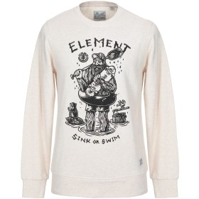 《セール開催中》ELEMENT X TIMBER! メンズ スウェットシャツ ベージュ S コットン 100%