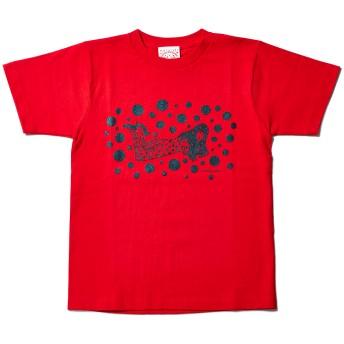 草間彌生:Tシャツ Yayoi レッド L