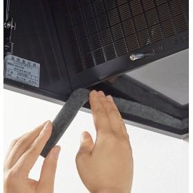 レンジフードの溝用 黒い吸油テープ(5本組) - セシール ■カラー:ブラック