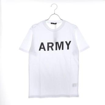 スタイルブロック STYLEBLOCK ARMYプリントミリタリークルーネック半袖Tシャツ (ホワイト)