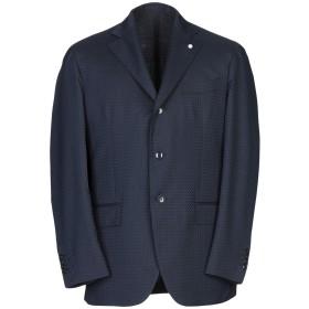 《セール開催中》LUIGI BIANCHI Mantova メンズ テーラードジャケット ダークブルー 50 ウール 55% / コットン 45%