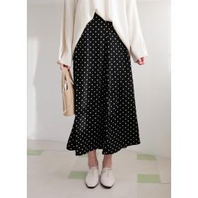 Aラインドットロングスカート・全3色・b52594