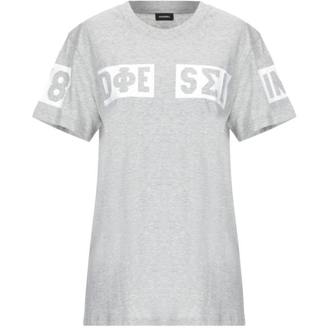 《期間限定セール開催中!》DIESEL レディース T シャツ ライトグレー XL コットン 100%