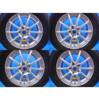 【送料無料】CR-V、CX-5、エスクード【中古スタッドレス4本アルミ付】ヨコハマ ジオランダI/T-S 225/65R17 GAB 17-7.0 5H114.3 +48