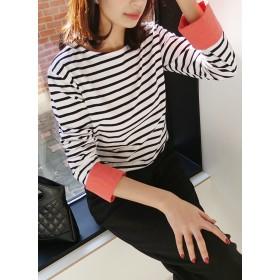 配色スリーブボーダーTシャツ・全3色・b55663