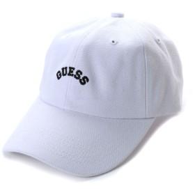 ゲス GUESS Originals ARCH LOGO CANVAS 6PANEL CAP (WHITE)【JAPAN EXCLUSIVE ITEM】