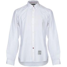《期間限定 セール開催中》FRED MELLO メンズ シャツ ホワイト XL コットン 100%