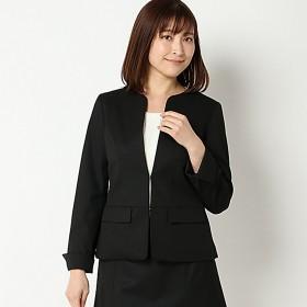 【文化服装学院監修】セットアップノーカラージャケット(レディース) ブラック