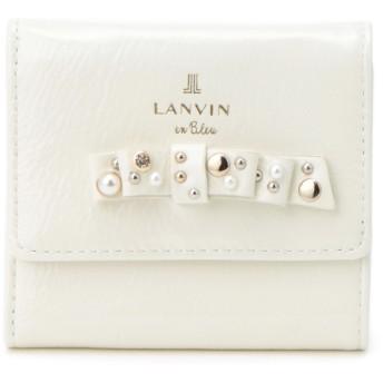 LANVIN en Bleu(BAG) LANVIN en Bleu ランバンオンブルー クリヨン 三つ折り財布 財布,ホワイト