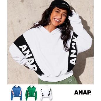 【セール開催中】ANAP(アナップ)ANAPロゴクロップドフーディー