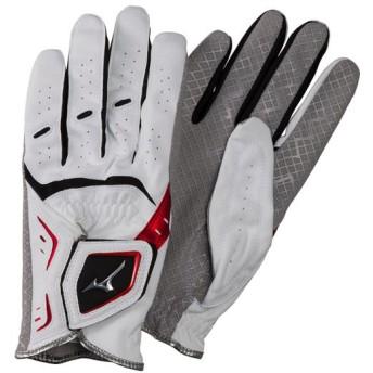 MIZUNO SHOP [ミズノ公式オンラインショップ] 手袋W-GRIP LG(両手)(パークゴルフ)[ユニセックス] 62 ホワイト×レッド C3JGP903