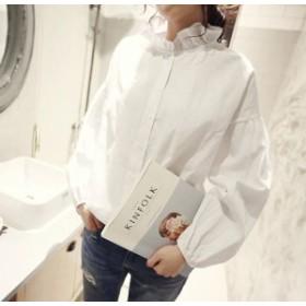 シフォン ロングシャツ 白シャツ ホワイト 長袖シャツ 半袖ブラウス 無地 シャツワンピース 白 レディース 大きいサイズシャツ a56