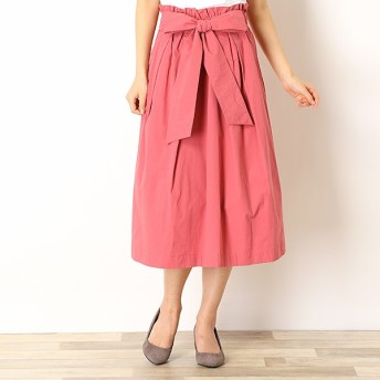 [マルイ]【セール】[春新作][S-4L] リボンベルト付きミモレ丈スカート/ラビアンジェ(LAVEANGE)
