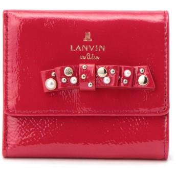LANVIN en Bleu(BAG) LANVIN en Bleu ランバンオンブルー クリヨン 三つ折り財布 財布,レッド