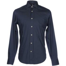 《期間限定セール開催中!》MARINA YACHTING メンズ シャツ ダークブルー 39 コットン 100%