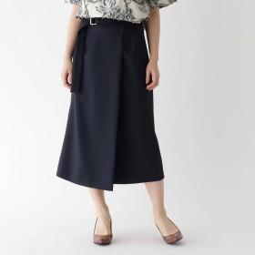 アクアガール aquagirl ツイルラップ風スカート (ネイビー)