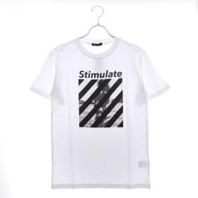 スタイルブロック STYLEBLOCK ガールフォトプリントクルーネック半袖Tシャツ (ホワイトB)