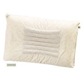 5000円以上送料無料 滝水石枕 フィットタイプ 低 55×35×4/6cm ベージュ 綿100% 生活用品・インテリア・雑貨:寝具:枕・抱き枕