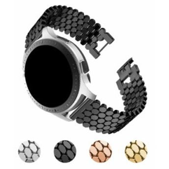 Galaxy Watch 46MM用 交換バンド 高級ステンレス ベルト ギャラクシーウォッチ 46MM メタル 交換リストバンド