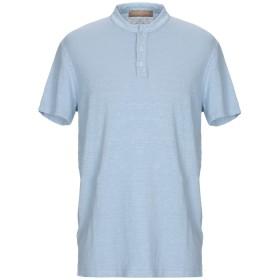 《期間限定 セール開催中》DANIELE FIESOLI メンズ T シャツ パステルブルー XXL 麻 97% / ポリウレタン 3%