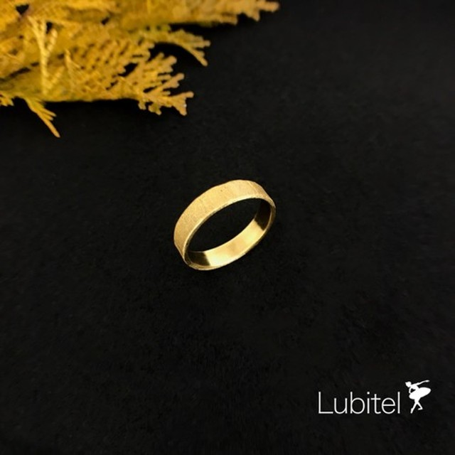Lubitel ルビテル Brass リング サムリング Gold セラミックコーティング