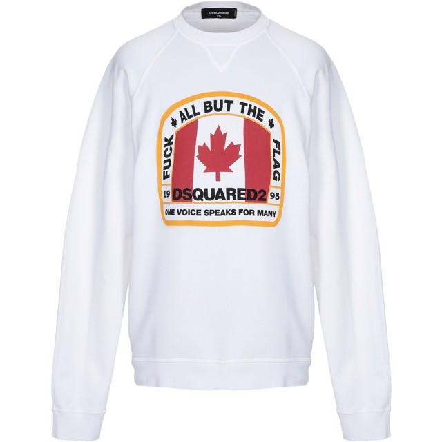 《セール開催中》DSQUARED2 メンズ スウェットシャツ ホワイト S コットン 100% / ポリウレタン
