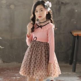 c556fa051f1b6 韓国子供服 フォーマル ワンピース ワンピースドレス 子どもドレス キッズ 女の子 春 秋 冬 衣装 ピンク