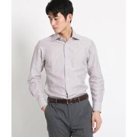 DRESSTERIOR / ドレステリア 綿×麻ブラウンストライプシャツ