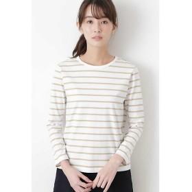 HUMAN WOMAN / ヒューマンウーマン 新きょう綿ロングスリーブTシャツ