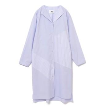RBS / パッチワーク ロングシャツ レディース カジュアルシャツ SAX ONE SIZE