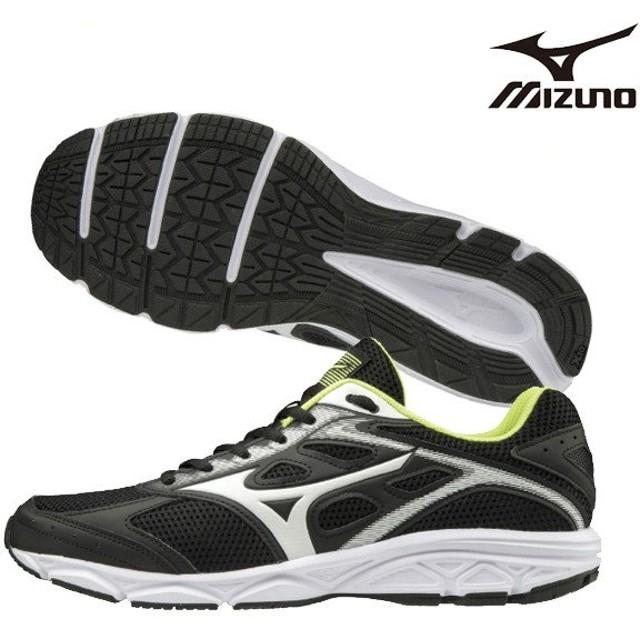 9228a7656dfdf ミズノ MIZUNO MAXIMIZER 21 K1GA190002 ランニングシューズ ランニングシューズ マラソン ジョギング  ブラック×ホワイト×イエロー