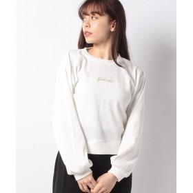 レトロガール ワッフルラメ刺繍プルオーバー レディース ホワイト M 【RETRO GIRL】