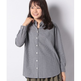 【50%OFF】 コエ ブロードオ バ サイズシャツ レディース チェックブラック M 【koe】 【セール開催中】