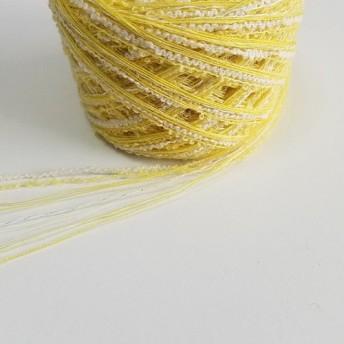 かわいい黄色ラメ入り引き揃え糸