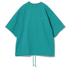 Champion × BEAMS / 別注 ビッグ フェイク Tシャツ メンズ Tシャツ AQUA S