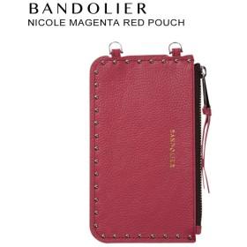 BANDOLIER バンドリヤー ポーチ NICOLE MAGENTA RED POUCH レザー メンズ レディース マゼンタ レッド 20NIC1001