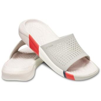 【クロックス公式】 ライトライド カラーブロック スライド LiteRide Colorblock Slide ユニセックス、メンズ、レディース、男女兼用 ホワイト/白 22cm,23cm,24cm,25cm slide スライドサンダル スポーツサンダル シャワーサンダル サンダル
