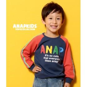 ANAP KIDS アナップキッズ レインボーライン ロゴトレーナー
