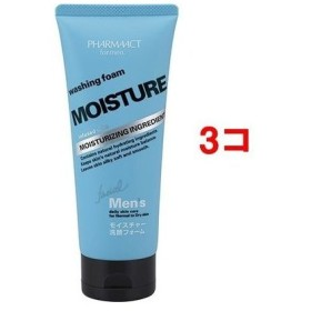 熊野油脂 32989 ファーマアクト メンズ モイスチャー洗顔フォーム 130g3コセット