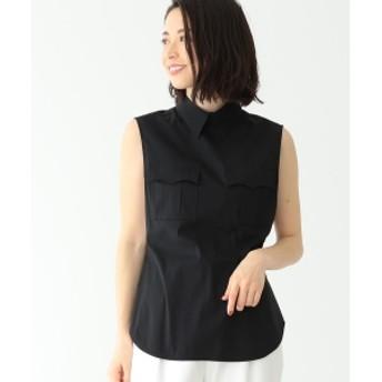 【VERY5月号掲載】CINOH / 2ポケット ノースリーブシャツ レディース ブラウス・プルオーバー BLACK 38