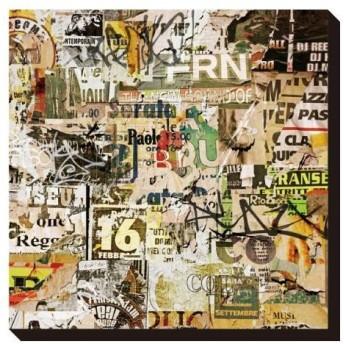 アートパネル Binkski Grunge Background with Old Torn Posters IAP-52115