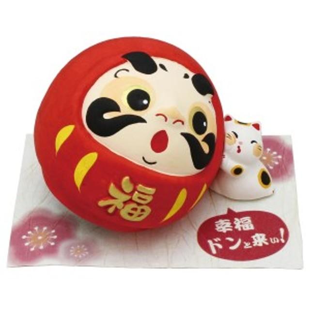 「ドンと来い! だるま貯金箱 赤 敷物付」手作り陶製 和みの和雑貨 置物