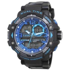 T-sports アナデジ 腕時計 TS-AD046-BKB