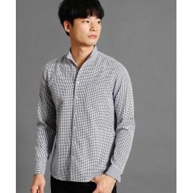 【46%OFF】 ニコルクラブフォーメン 格子柄ショートスタンドカラーシャツ メンズ 49ブラック 46(M) 【NICOLE CLUB FOR MEN】 【タイムセール開催中】