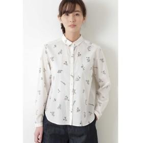 HUMAN WOMAN / ボタニカルプリントシャツ