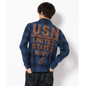 【30%OFF】 アヴィレックス TYPE BLUE/USN ユーティリティ刺繍シャツ/EMBROIDERED UTILITY SHIRT メンズ USED M 【AVIREX】 【セール開催中】