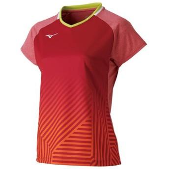 MIZUNO SHOP [ミズノ公式オンラインショップ] ゲームシャツ(ラケットスポーツ)[レディース] 65 バーチャルピンク 72MA9202