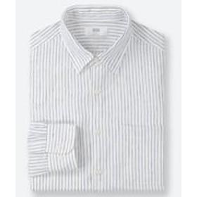 プレミアムリネンストライプシャツ(長袖)